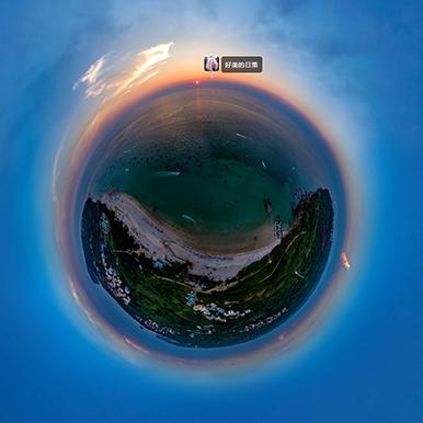 广西涠洲岛美丽日落